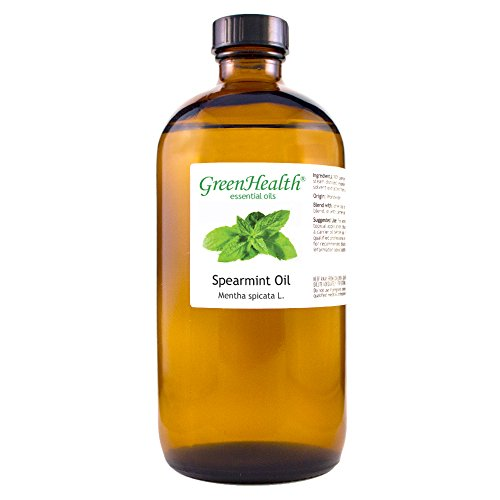 GreenHealth Spearmint - 100% Pure Essential Oil 16 fl oz (473 ml) Glass ()