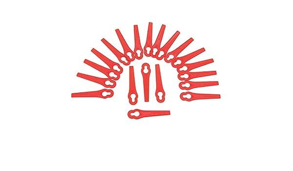 100 cuchillas de plástico para desbrozadora eléctrica Bosch ...