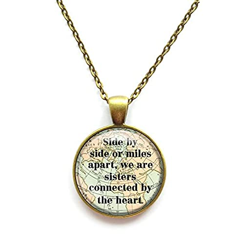 Sister necklaces amazon sister necklace side by side or miles apart we are sisters connected by the heart chain pendant necklace aloadofball Choice Image