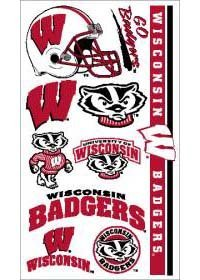 Wisconsin Badgers NCAA Temporary Tattoos (10 - Wisconsin Outlets