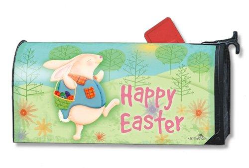Easter Morning Bunny Magnetic Mailbox Cover Mailwraps Magnet