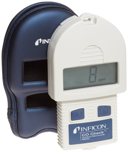INFICON 715-202-G1 CO Check Carbon Monoxide Meter with Holster Case, 1 999ppm Range, 9V