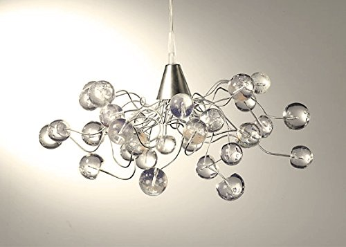 Transparent Bubble chandelier lightshade - handmade ceiling light for living room,dining room, outdoor patio and office lighting (Outside Dining Ideas)
