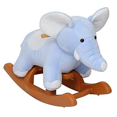 Peach Tree Kids Rocking Animal Ride On Rocking Plush Giraffe Theme Chair with Sound