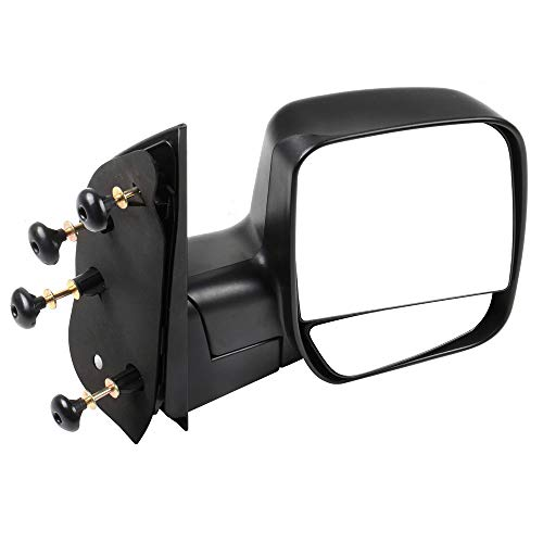 ECCPP Passenger Side Mirrors, Right Rear View Mirrors fit 2003-2013 Ford E-150 E-250 2004-2013 Ford E-350 E-450 Super Duty E-450 Econoline Black Manual ()