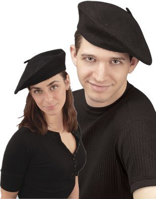 New Men s Women s Black French Beret Artist Costume Hat  Amazon.ca ... 89659a6d74a