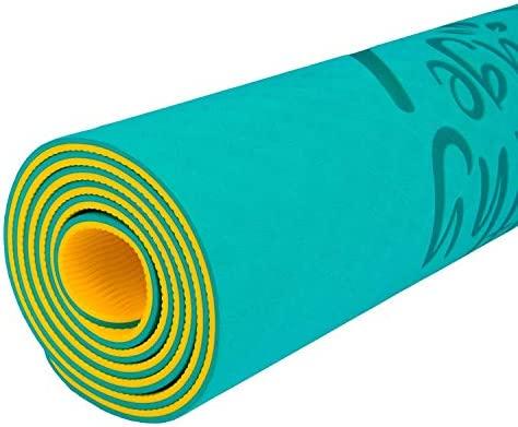 Yoga Mat. Esterilla Antideslizante de Pilates, Ejercicios, fitness, deporte. Colchoneta ligera, acolchada con correa multiuso. Esterilla para gym, ...