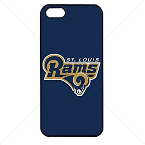 NFL American football St. Louis Rams Fans Apple iphone 5s TPU Soft Black or White case (Black)