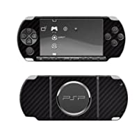 Skinomi TechSkin - Sony PSP 3000 Screen Protector + Carbon Fibre Black Full Body Skin Protector / Front & Back Premium HD Clear Film / Ultra High Definition Invisible and Anti Bubble Crystal Shield with Free.