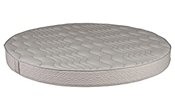 "Round Foam Mattress (86"" Diameter) with Quilted Cover 8"" Height -  High"