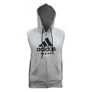 a8a4ce8a5b52f adidas Sleeveless Boxing Zip Hoody - Grey (Small)  Amazon.co.uk ...