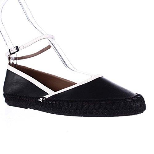 Giorgio Armani XIS010 XIS010 XIS010 Ankle Strap Espadrille Flats, Nero Blanco B07BXZPDJ8 Shoes 9b3e4c