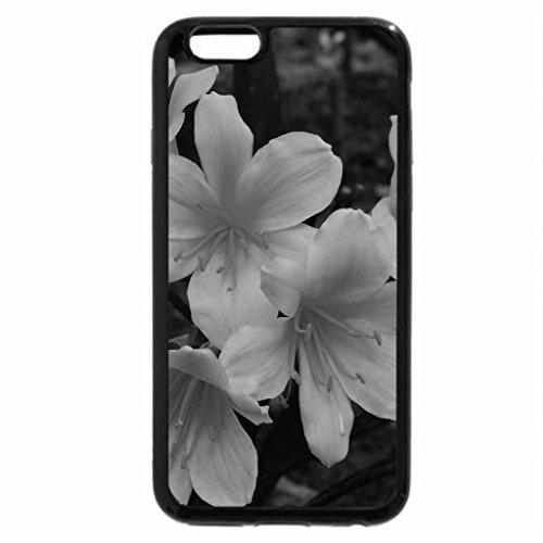 iPhone 6S Plus Case, iPhone 6 Plus Case (Black & White) - CREAMY RHODODENDRON