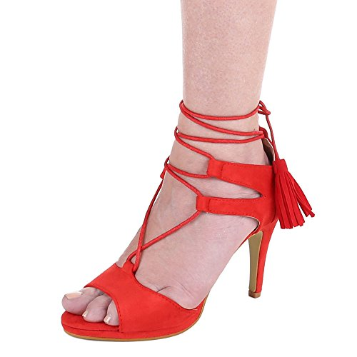 Ital-Design - sandalias mujer Rojo - rojo