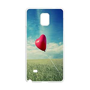 Samsung Galaxy Note 4 Case Alone Heart Flying, Samsung Galaxy Note 4 Case Heart & Love, [White]