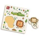 Brinquedo Pedagógico Madeira Ache Encaixe Safari, Brincadeira de Criança, Multicor, Pequeno