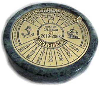 Immerwährender Kalender-Jedes-Jahr-Kalender-ewiger Kalender- Messing auf Marmor