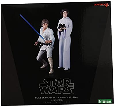 Kotobukiya Star Wars: Luke Skywalker and Princess Leia ArtFX+ Statue