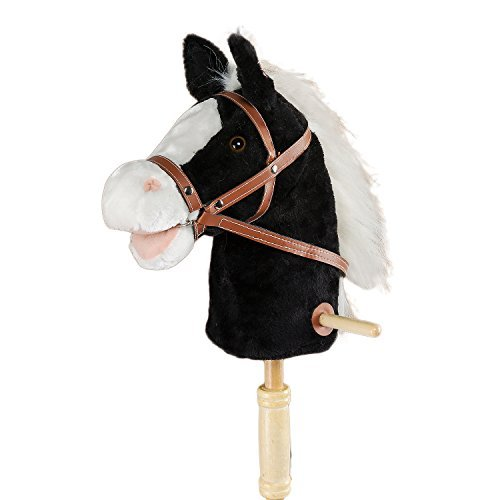 HollyHOME Horse Stick with Sound Toy Stuffed Animal Horse Stick 36 Inches Black from HollyHOME