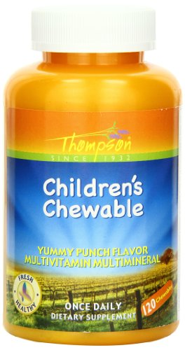 Thompson Multi Vitamin, Children's Punch Flavor, Chewable, 120 Count Review