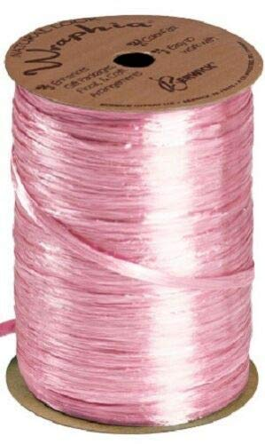 Pink Pearlized Raffia Ribbon Gift Wrap Wedding 1/2'' Wide 500 Yards Bow by retail-warehouse