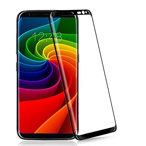 Galaxy S8 Plus Screen Protector ,ChYu@Full Coverage 3D Curved Edge Premium Tempered Glass Film Protector for Samsung Galaxy S8 Plus (S8 Plus Black)