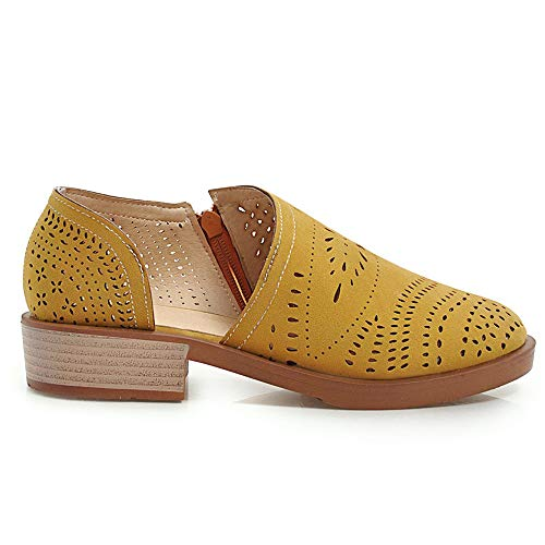 On Zanpa Slip Chaussures Appartement Femmes Jaune Casual xCBBFq6wS