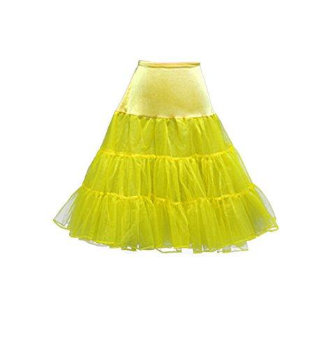 Babyonline Falda de tul mini tutú con varias capas falda de fiesta y de espectáculo amarillo