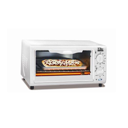 (Elite Cuisine EKA-9210XW Maxi-Matic Toaster Oven Broiler, White)