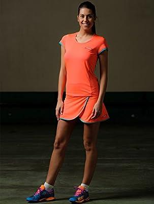 Camiseta padel Neon Coral mujer (L): Amazon.es: Deportes y ...