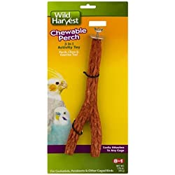 Wild Harvest Chewable Bird Perch, 3 in 1 Toy, 1 Count