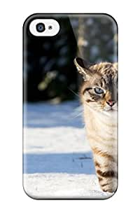 Forever Collectibles Cat Trudging On Snow Animal Cat Hard Snap-on Iphone 4/4s Case