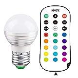 Danolt Wireless Remote Control with E27 Bulb 16 RGB Color Change