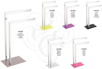 Acero Inoxidable MSV Juego de Pie WC 70x15x15 cm Blanco