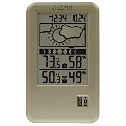 La Crosse Technology WS-9060U-IT Wireless Forecast Station with Moon Phase, In/Out Temperature & Humidity