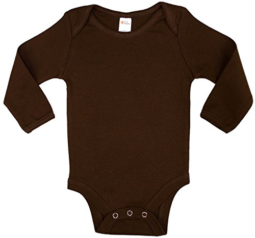 Earth Elements Baby Long Sleeve Bodysuit 3-6 Months Chocolate -