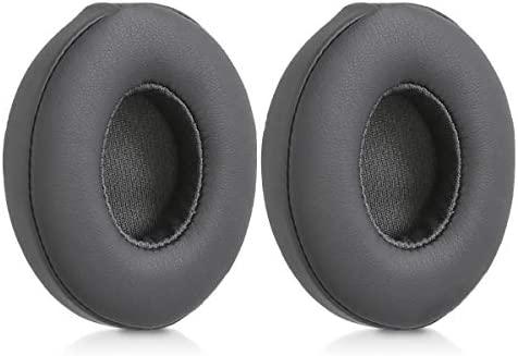 kwmobile 2X Almohadillas para Auriculares Beats Solo 2 Wireless / 3 - Almohadilla de Repuesto de Cuero sintético para Cascos