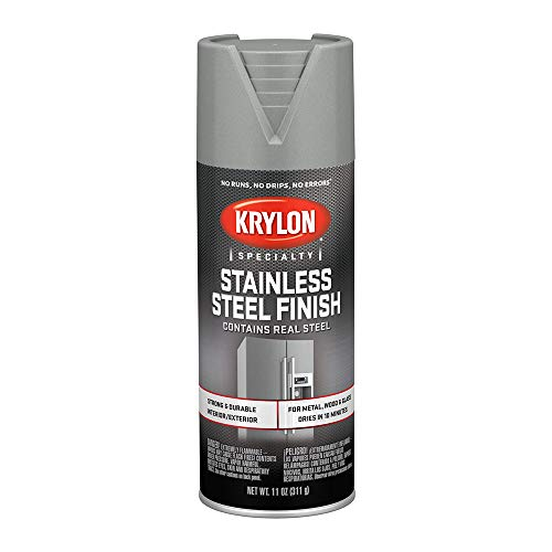 Krylon K02400007 Stainless Steel Finish Spray Paint, Stain Steel, 11 Ounce ()