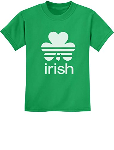 Irish Shamrock St. Patrick's Day Clover Cute Kids T-shirt Large Green