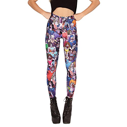 PinRoad Women's Walking Dead Gym Running Tight Leggings