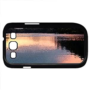 Reflection (Lakes Series) Watercolor style - Case Cover For Samsung Galaxy S3 i9300 (Black)