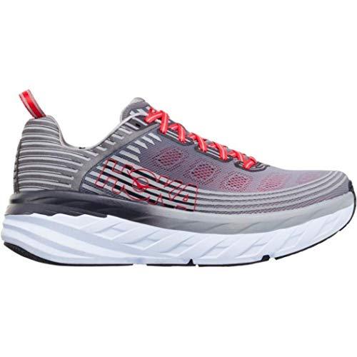 HOKA ONE ONE Men's Bondi 6 Running Shoe Alloy/Steel Grey Size 12 M US