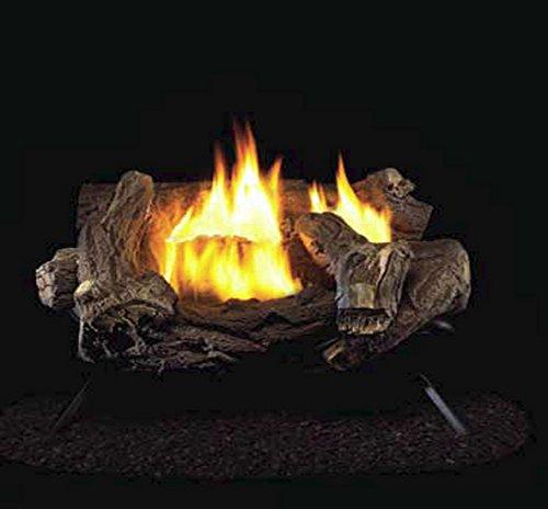 ProCom Yellow Flame Vent-Free Gas Log Heater Set, Model: WZN24HLA