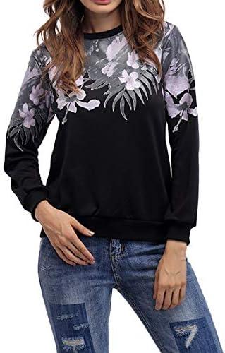 レディーススウェットシャツスウェットシャツ秋冬ロングスリーブプリントトップブラウスTシャツ
