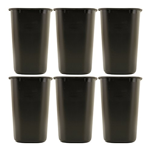 ..Rubbermaid Commercial Series Soft Molded Plastic Wastebasket (6 Pack)