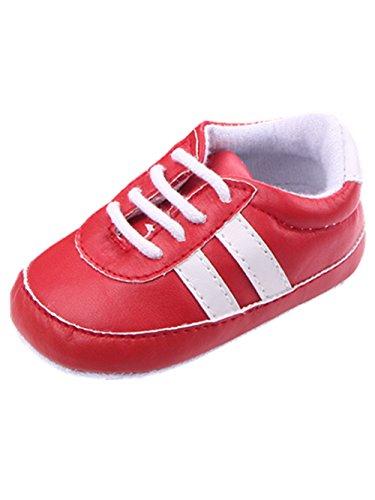 YICHUN zapatos de bebé ocio zapatos Rayas zapatos de Prewalker cuna suave zapatos zapatillas azul azul oscuro Talla:Sole Length:11cm/4.3 inches rosso