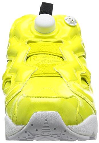 Sneaker Reebok Instapump Fury Overbranded en bárniz vegana amarillo Amarillo
