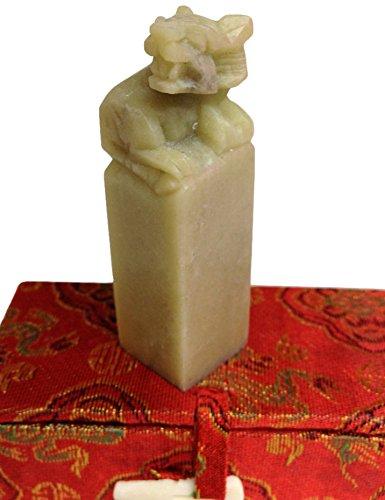 Yuemei Zodiac Tiger Jade Stamp, Small 77103