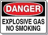 Beaed - Danger Explosive Gas No Smoking - 100-0021-55M01