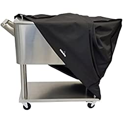 Cooler Cart Cover - Universal Fit For Most 80 QT Rolling Cooler (Patio Cooler On Wheels, Beverage Cart, Rolling Ice Chest, Party Cooler) Protective Cover, Water Proof, New 2018